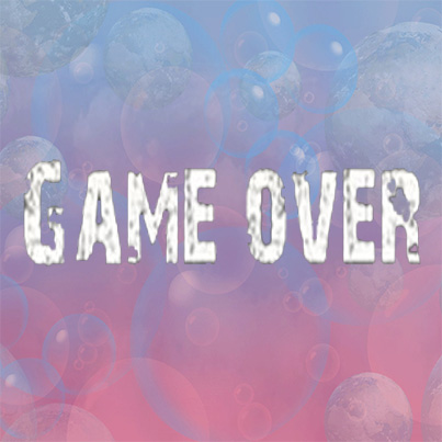 game over ,press restart to continue