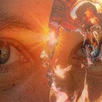 העין השלישית , אש בעיניים